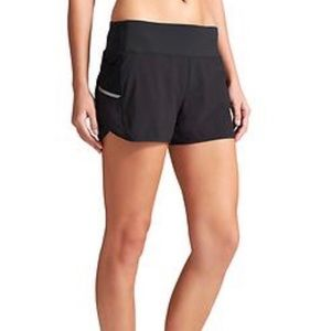 Athleta Black Ready Set Go Running Short